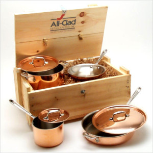 All Clad copper (aluminum core) cookware