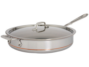 All Clad copper core saute pan