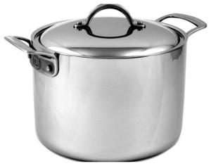 CIA stock pot - you can't clad a pot larger than 16 quarts