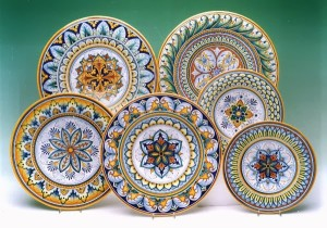 Deruta hand-painted designs