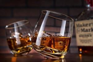 Wobbly whiskey glasses
