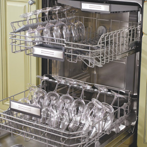 This dishwasher was obviously built to handle stemware!