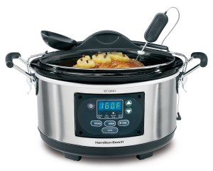 Hamilton Beach slow cooker with digital probe thermometer
